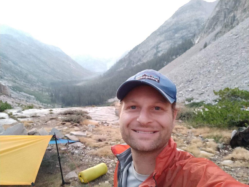 Camping before Palisades Lakes