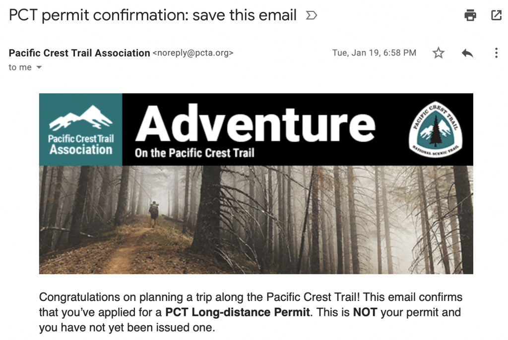 So, we're hiking the PCT?